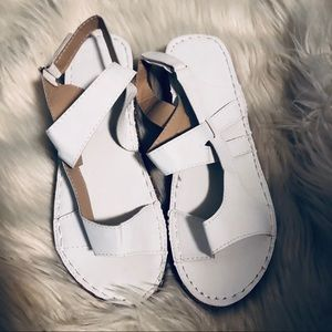 White like new sandals! Size 11.5